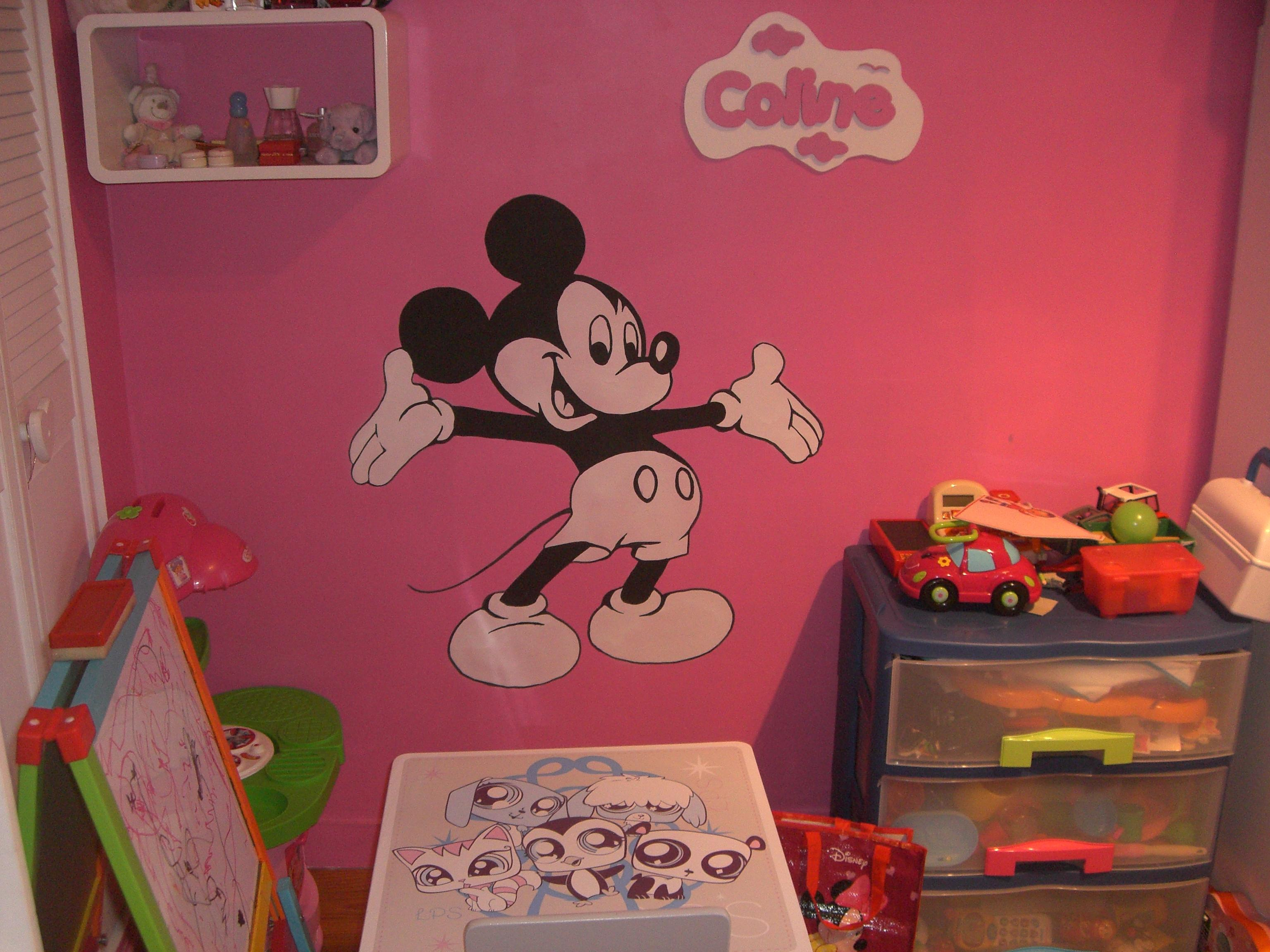peinture murale at pop art. Black Bedroom Furniture Sets. Home Design Ideas